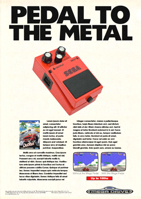 Pedal To The Metal SEGA Flyer